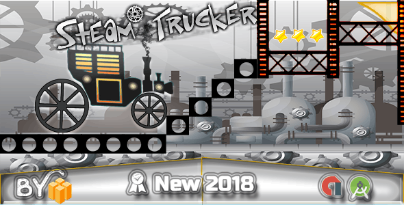 Steam Trucker Game - Android Studio + Tamplate Buildbox