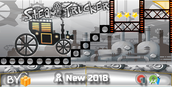 Steam Trucker Game - Xcode + Template Buildbox