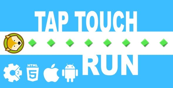 Tap Touch Run - HTML5 Game + Mobile Version! (Construct-2 CAPX)