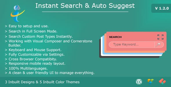 WP Instant Search & Auto Suggest
