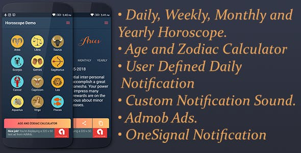 Horoscope (With Audio) - Daily, Weekly, Monthly, Yearly