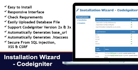Installation Wizard - CodeIgniter