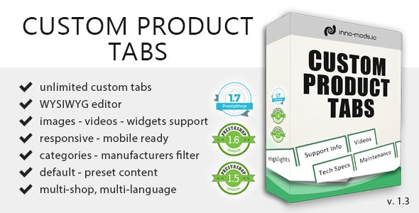 Custom Product Tabs for Prestashop