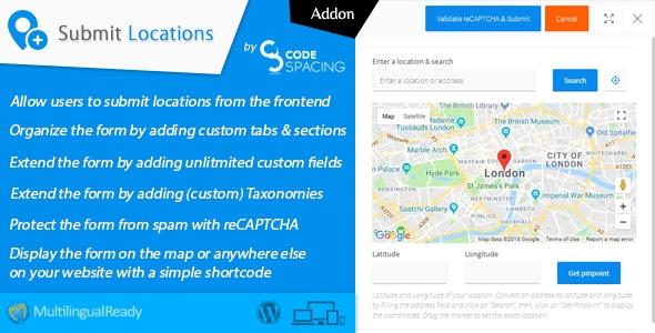 Progress Map, Submit Locations - WordPress Plugin - CodeCanyon Item for Sale
