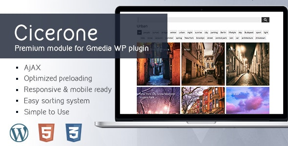 Cicerone 4.0 | MultiGrid Gallery Module for Gmedia Gallery WordPress plugin - CodeCanyon Item for Sale