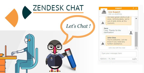 Zendesk Live Chat (formerly Zopim) for Prestashop - CodeCanyon Item for Sale