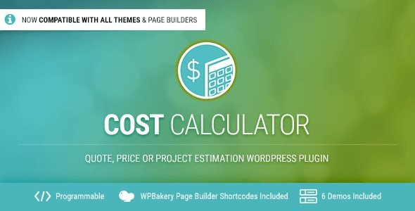 Cost Calculator WordPress Plugin - CodeCanyon Item for Sale
