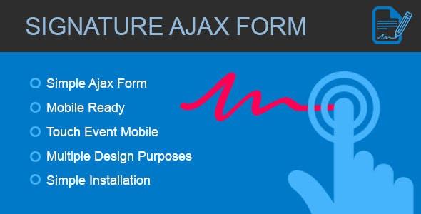 Signature Form - Ajax form with canvas signature