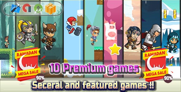Super Mega Bundle 2018 - 10 Games - Android