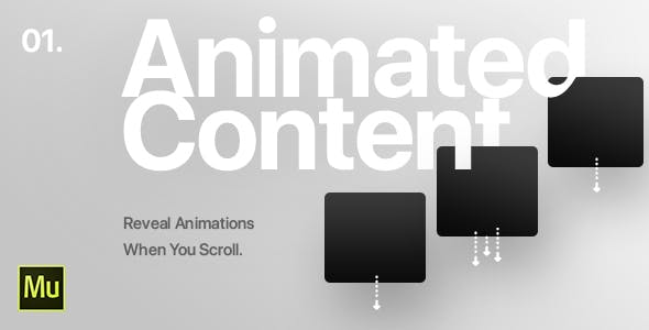 01 | Animated Content Widget for Adobe Muse CC