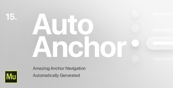 15 | Auto Anchor Navigation for Adobe Muse CC - CodeCanyon Item for Sale