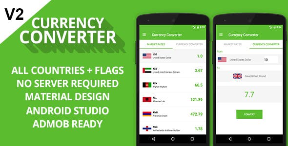 Currency Converter + Admob Ready