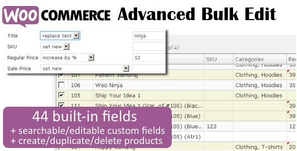 WooCommerce Advanced Bulk Edit        Nulled
