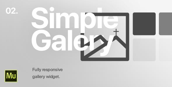02 | Simple Gallery Widget for Adobe Muse CC