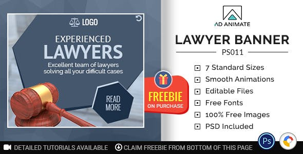 Professional Services | Lawyer Banner (PS011)