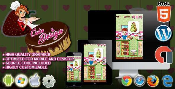 Cake Design - HTML5 Construct 2 Cooking Game