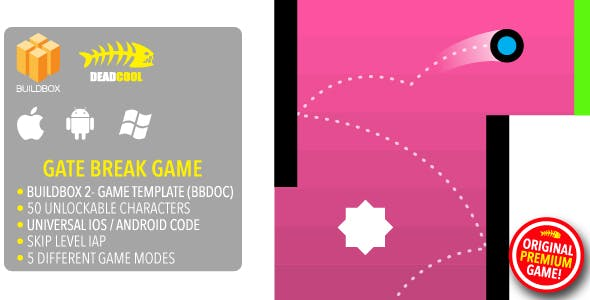 Gate Break - BuildBox 2 Game Template Document - iOS / Android / BBDOC