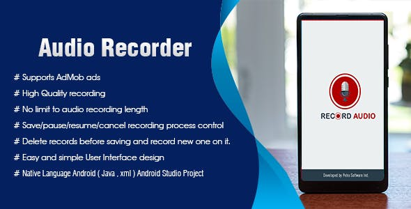 Audio recorder Android Admob Ads