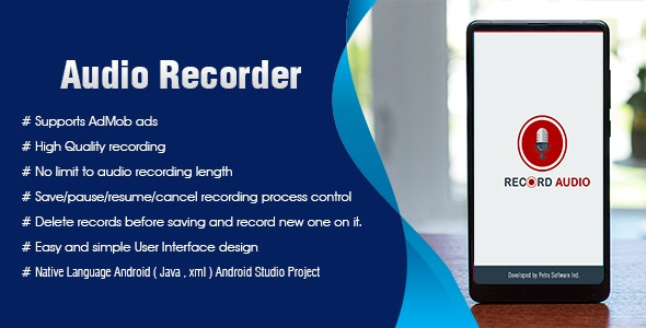 Audio recorder Android Admob Ads - CodeCanyon Item for Sale