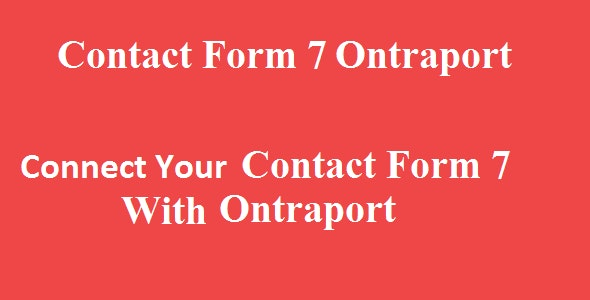 Contact Form 7 Ontraport Integration - CodeCanyon Item for Sale