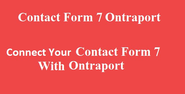 Contact Form 7 Ontraport Integration