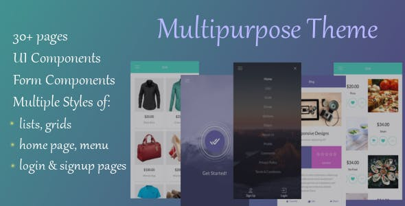 IonMultiPurpose - Ionic 3 Multi Purpose Template