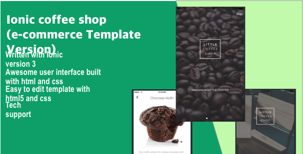 ionic coffee shop (e-commerce Template Version)