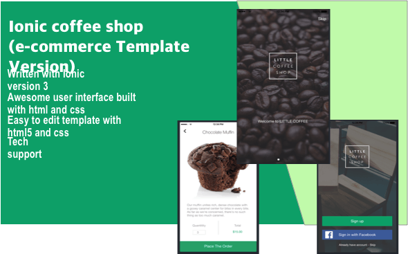 ionic coffee shop (e-commerce Template Version) - CodeCanyon Item for Sale