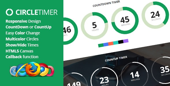 CircleTimer - jQuery Countdown Timer - CodeCanyon Item for Sale