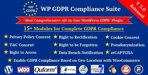 WP GDPR Compliance Suite WordPress Plugin