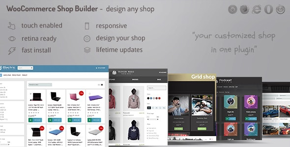 WooCommerce shop page builder - Create any shop grid / table