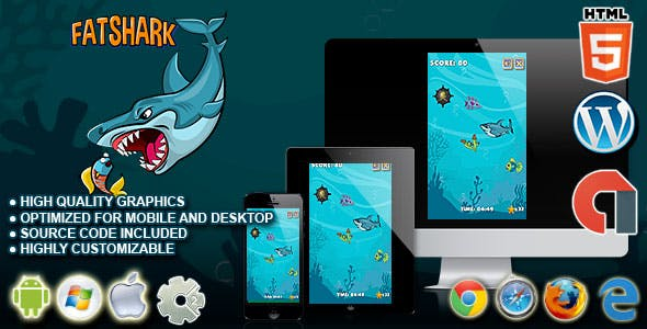 Fat Shark - HTML5 Construct  2 Survival Game