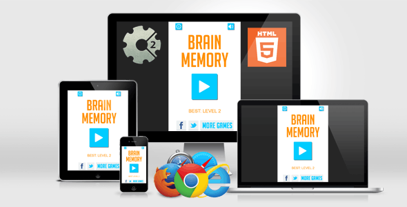 Brain Games - Pattern Memory HTML5 Game - CodeCanyon Item for Sale