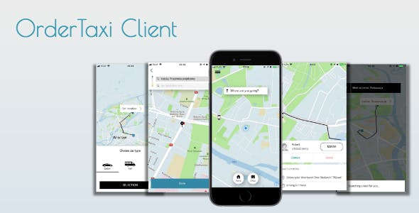 OrderTaxi - Ready Uber like client-side application to order taxi