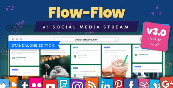 Flow-Flow — Social Media Stream PHP Script