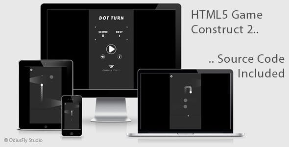 Dot Turn - HTML5 Game (Construct 2)