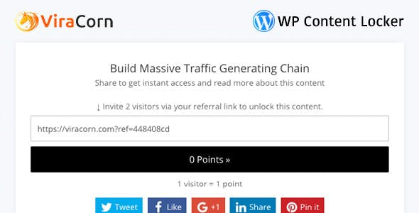 ViraCorn - WP Content Locker