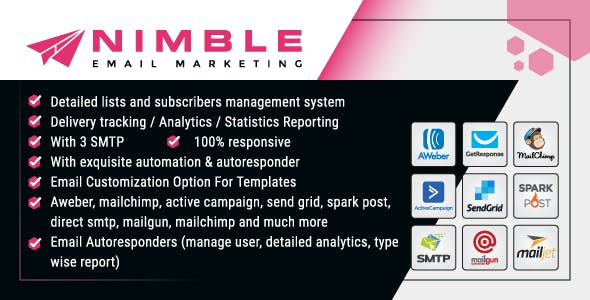 Nimble Bulk Email Marketing Web Application For Business – Php Laravel Script