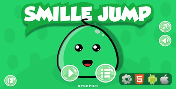 Smille Jump – HTML5 Game + CocoonAds and Mobile Version (Construct 2 - CAPX)