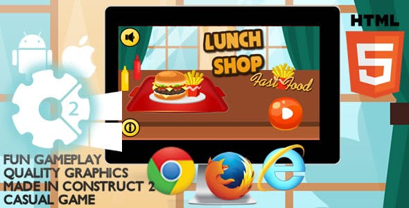 Lunch Shop Html5 Game
