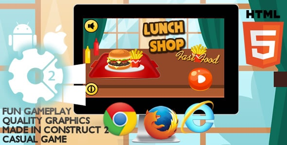 Lunch Shop Html5 Game - CodeCanyon Item for Sale