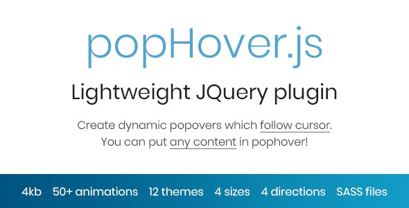 popHover.js - Animated Dynamic Popovers which Follow Cursor
