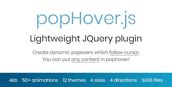 popHover.js - Animated Dynamic Popovers which Follow Cursor - CodeCanyon Item for Sale