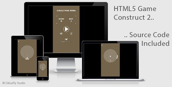 Circle Ping Pong - HTML5 Game (Construct 2)