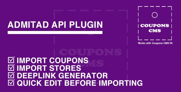 Admitad Plugin for Coupons CMS - CodeCanyon Item for Sale