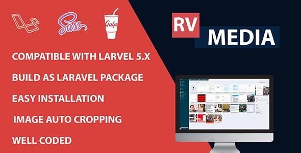 RvMedia - Laravel Media Management, Upload and Resize images