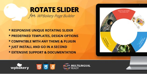 Rotate Slider Addon for WPBakery Page Builder (formerly Visual Composer)