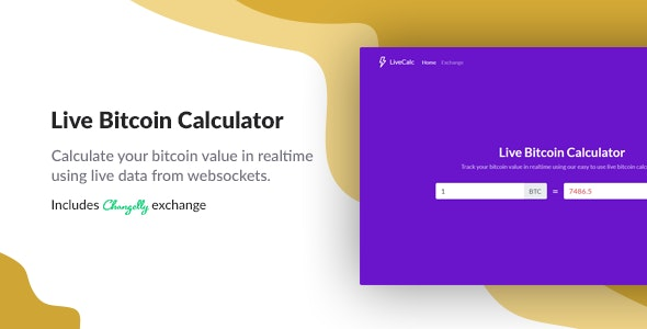 Live Bitcoin Calculator - CodeCanyon Item for Sale