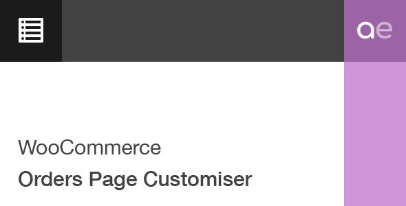 WooCommerce Orders Page Customiser