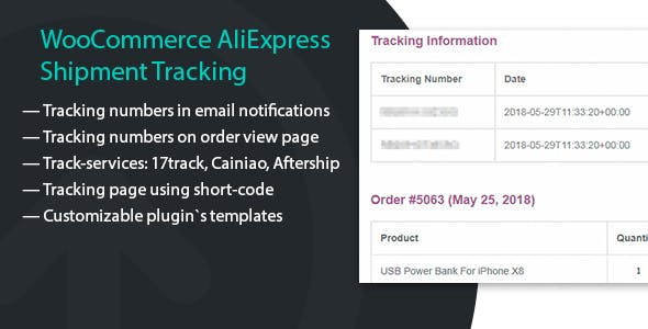 Shipping Tracking for WooCommerce orders